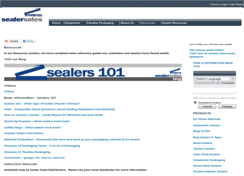 Sealer Sales Resources